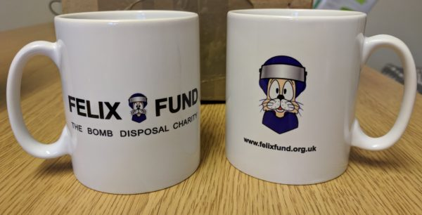 Felix Fund mugs front and back views