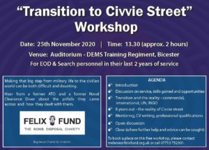Transition to Civvie Street Workshop Flyer